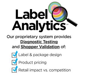 Label Analytics proprietary system